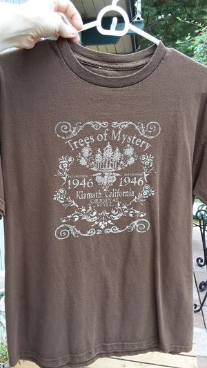 Trees of mystery brown Tshirt. Free for Sale in John Sam Lake, WA
