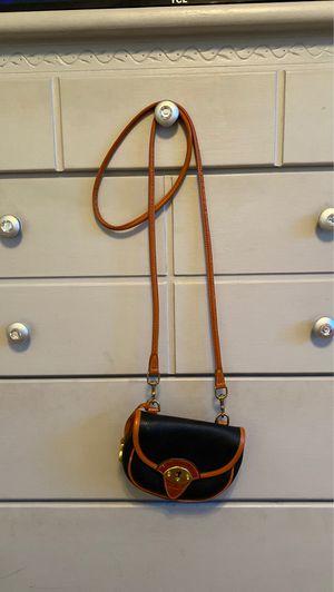DOONEY & BOURKE Tan Navy Classic Crossbody Waist Mini Bag Flap All Weather Leather for Sale in Phoenix, AZ