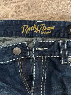 2 pair of Rock 47 Jean's size 36/36 boot cut for Sale in Columbus, OH