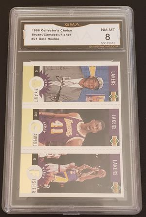 1996 Collectors Choice Kobe Bryant/Campbell/Fisher #L1 Gold Rookie for Sale in Fontana, CA