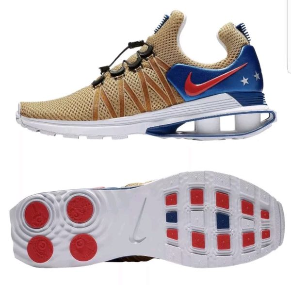 Nike Shox Gravity Mens AR1999-700 Metallic Gold World Cup Edition Size 9.5.  Shipped with USPS Priority Mail. 63d767f93