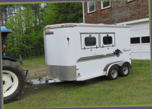 1000.00 Price/The 2 HORSE TRAILER HAS USED REALLY LITTLE SO IT IS in good condition. for Sale in Evansville, IN
