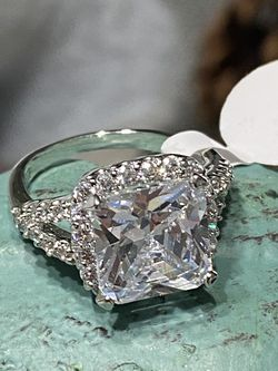 18k White Gold Filled Engagement Ring With Clear CZ Size 6,7,9 for Sale in Nashville,  TN