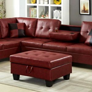 New SPECIAL] Pablo Red Sectional | U5700 $39 down payment for Sale in Arlington, VA