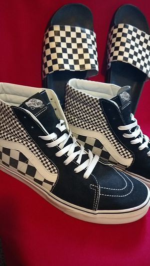 Vans Bundle, Size 13. High tops and slides. Old-School checkered. for Sale in Tempe, AZ