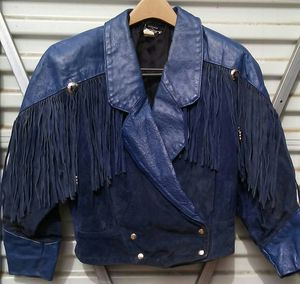 VTG. MOTORCYCLE WOMEN'S LEATHER JACKET. SIZE S. 1980'S for Sale in Denver, CO