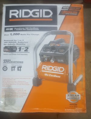 New in box 18 voltt Cordless Brushless 1 gal. Portable Air Compressor for Sale in Denver, CO
