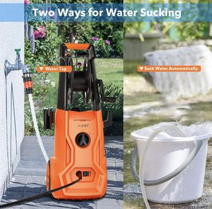 AIPER Electric Power Washer 2150 PSI 1.85 GPM Pressure Washer 1800W Cleaner Machine with Adjustable Nozzle, Long Hose, Hose Reel, and Spray Gun (Sell for Sale in Miramar, FL