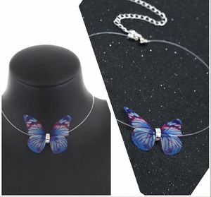 Beautiful Clear Necklace Blue Butterfly for Sale in East Haven, CT