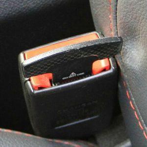 2pcs Car Safety Seat Belt Buckle Alarm Stopper Clip Clamp Carbon Fiber Universal (carbeltclip-USA) for Sale in Riverside, CA