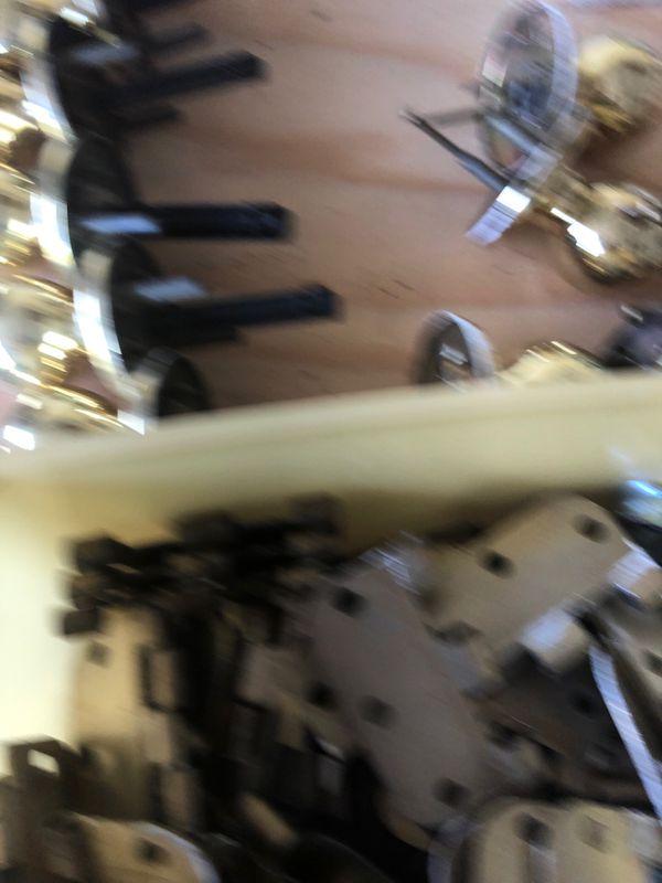 Brass door hardware. Knobs and Hinges for 6 doors