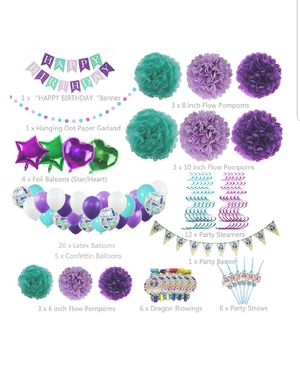 Mermaid Party Supplies Birthday Party Supplies for Girls for Sale in Silver Spring, MD