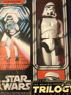 Star Wars trilogy large action figure storm trooper for Sale in Houston,  TX