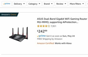 Asus RT-AC88U Extreme WiFi Router for Sale in Miami, FL