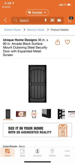 Security screen door for Sale in Humble, TX