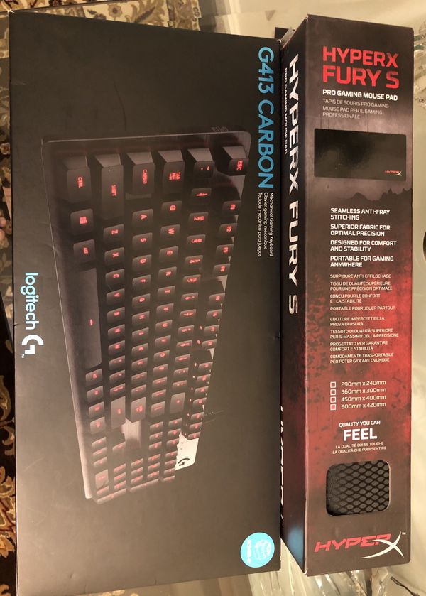 New Gaming Keyboard G413 CARBON (Logitech) and Gaming Mouse Pad
