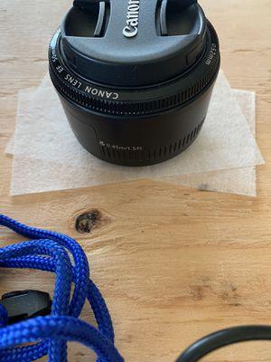 Cannon 50mm EF 1.8 for Sale in Rio Vista, CA