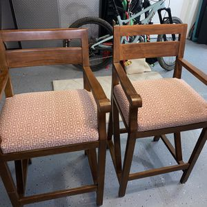 Wooden Barstools (Pair) for Sale in Mill Valley, CA