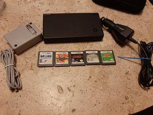 Nintendo DSi (Black) w/ 5 DS games for Sale in Lake Worth, FL