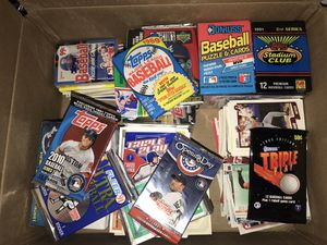 100's of baseball cards loose, packs, boxes Topps etc for Sale in Alexandria, VA