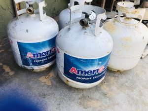 Empty propane tanks for sale for $5each or ALL FOUR for $15 for Sale in Huntington Beach, CA