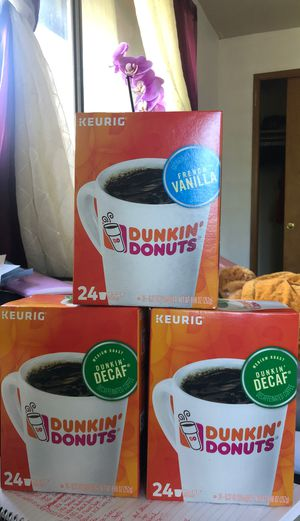 Keurig Dunkin Donuts K-Cups Decaf and French Vanilla for Sale in Everett, WA