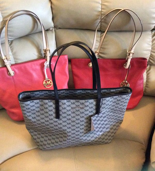3 Brand New Authentic Women's MK Tote Bag