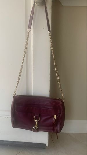 Rebecca Minkoff Eggplant signature shoulder bag gold chain with dust bag MAKE AN OFFER for Sale in Irvine, CA