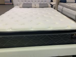 Queen size copper pillow top cooling gel mattress for Sale in Irving, TX