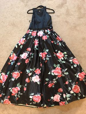 Sz6 black floral ball gown prom dress for Sale in North Olmsted, OH