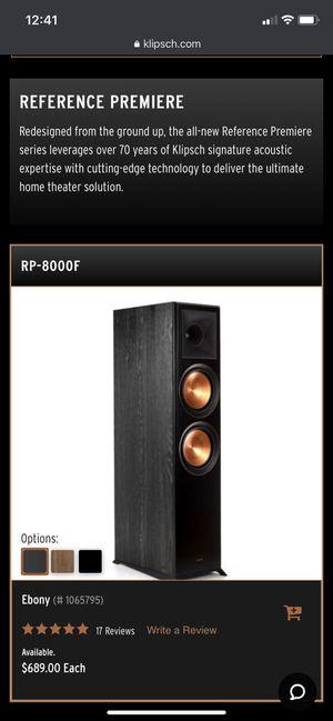 Klipsch RP8000F for Sale in San Diego, CA