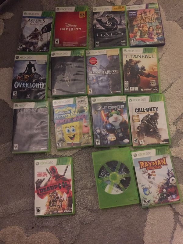 15 XBOX 360 video games. All for one price .