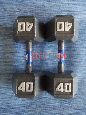 Brand New!! 40 Pound Dumbbells FIRM!! for Sale in Yucaipa, CA