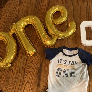 First Birthday Onesie And Decorations for Sale in Portland, OR