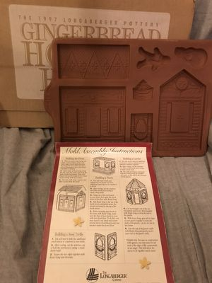 1997 Longaberger gingerbread house mold for Sale in Lilburn, GA