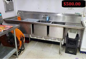 Three Compartment Sink for Sale in Farmington Hills, MI