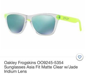 Sunglasses Oakley Frogskins Asia Fit Matte Clear for Sale in Miami Beach, FL