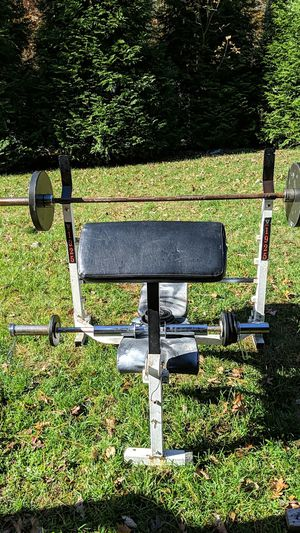 Olimpic bench press for Sale in Lakewood Township, NJ