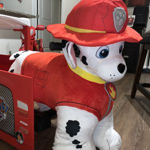 Paw Patrol Plush Ride On For Toddlers Marshall With Pup House Included for Sale in Orlando, FL