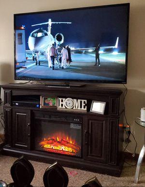 60 inch Vizio Razor HD Smart TV (E601i-a3) AND Electric Fireplace TV STAND (amazing heat) for Sale in North Attleborough, MA