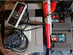 Nintendo NES and Zapper with Super Mario Bros. and Duck hunt for Sale in Canton, MA