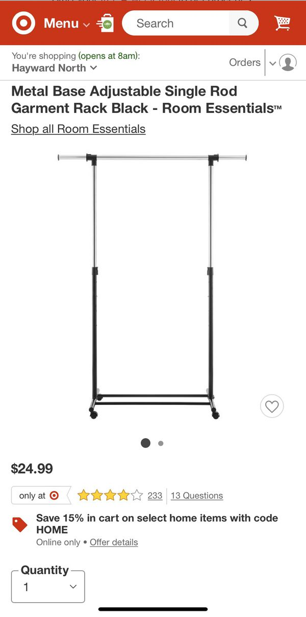 Adjustable Metal Garment Rack