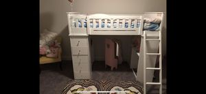 Kids Bed Loft with drawers & desk (Like New) for Sale in North Potomac, MD
