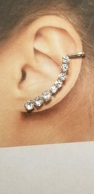 925 Sterling silver stone cuff Earrings for Sale in Lakeside, CA