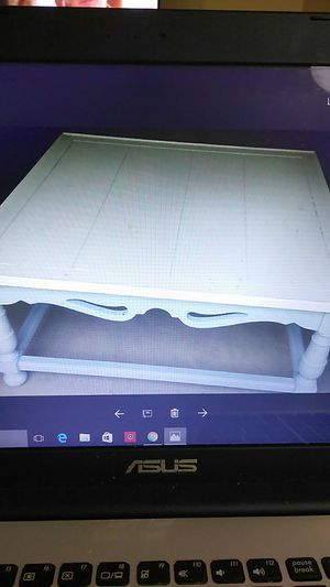 Blue and white patio furniture table for Sale in Littleton, CO
