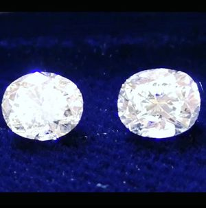 😍 1.50 ctw Oval Brilliant Diamonds - matching pair for earrings for Sale for sale  Staten Island, NY