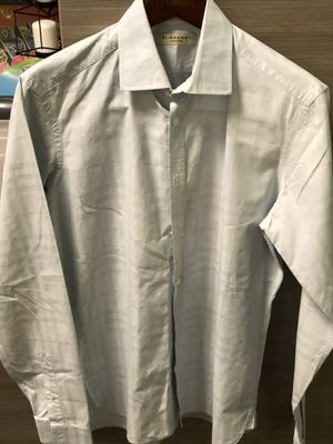 Mens burberry long sleeve button down slim fit medium for Sale in Irvine, CA