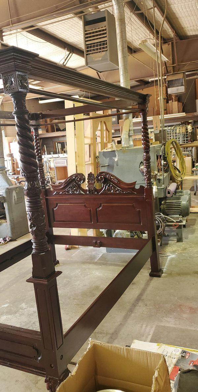 Vintage mahogany canopy bed