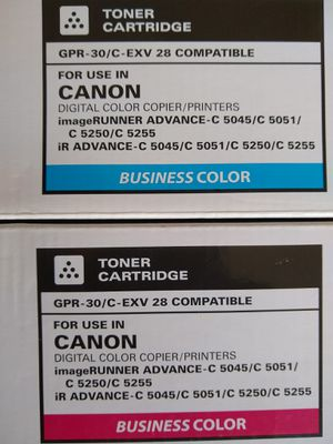 Katun Toner Cartridge Canon ImageRunner GPR-30/C-EXV 28/NPG-45 Cyan & Magenta. for Sale in Hudson, FL