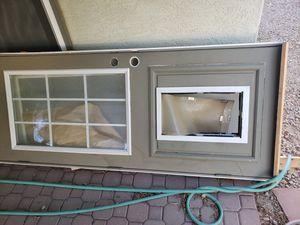 Wood Patio Door with Doggie Door 33x80.5 for Sale in Scottsdale, AZ
